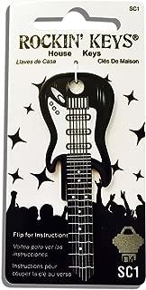 Black Electric Guitar Shaped Rockin' Key - SC1