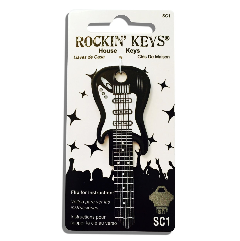 Cheap Black Electric Guitar Shaped Rockin Key - SC1 Black Friday & Cyber Monday 2019