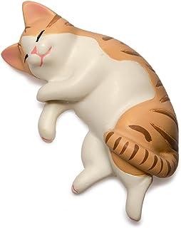 ペットラバーズ 猫 すやすやニャンコ マグネット なかの由峰 デザイン 茶トラ白 CA-3002