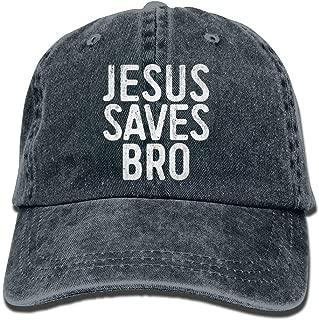 AUCAMP Jesus Saves Bro Christian Plain Hat