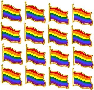 Rhungift 10/20/50Pack Rainbow Flag Pins- Jewelry Quality Enamel Pride Lapel Pin- Gay LGBT Lapel Pins