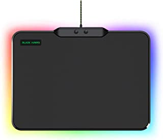 Blade Hawks RGB Hard Surface Gaming Mouse Pad W LED Breathing Lighting(9 Lighting Modes), Large USB Computer Mousepad Mice Mat for Gamer, Waterproof, 14″ x 10.5″ x 0.2