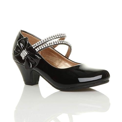 82631e05633c3 Childrens Black Bridesmaid Shoes: Amazon.co.uk