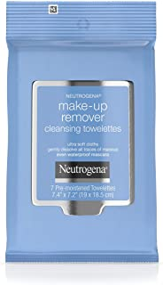 Neutrogena Makeup Remover Cleansing Towelettes, Daily Face Wipes to Remove Dirt, Oil, Makeup & Waterproof Mascara, Travel ...