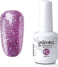 Elite99 Gel Nail Polish Soak Off UV LED Gel Lacquer Nail Art Manicure Glitter Cashmere Rose 598 15ml