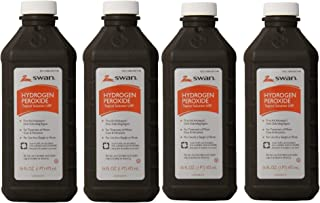 Swan Hydrogen Peroxide Topical Solution 16 oz (Pack of 4)
