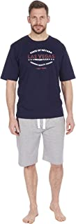 Cargo Bay Mens Jersey Lounge Shorts with Short Sleeve T-Shirt