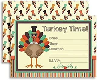 Turkey Time Thanksgiving Party Invitations, 20 5
