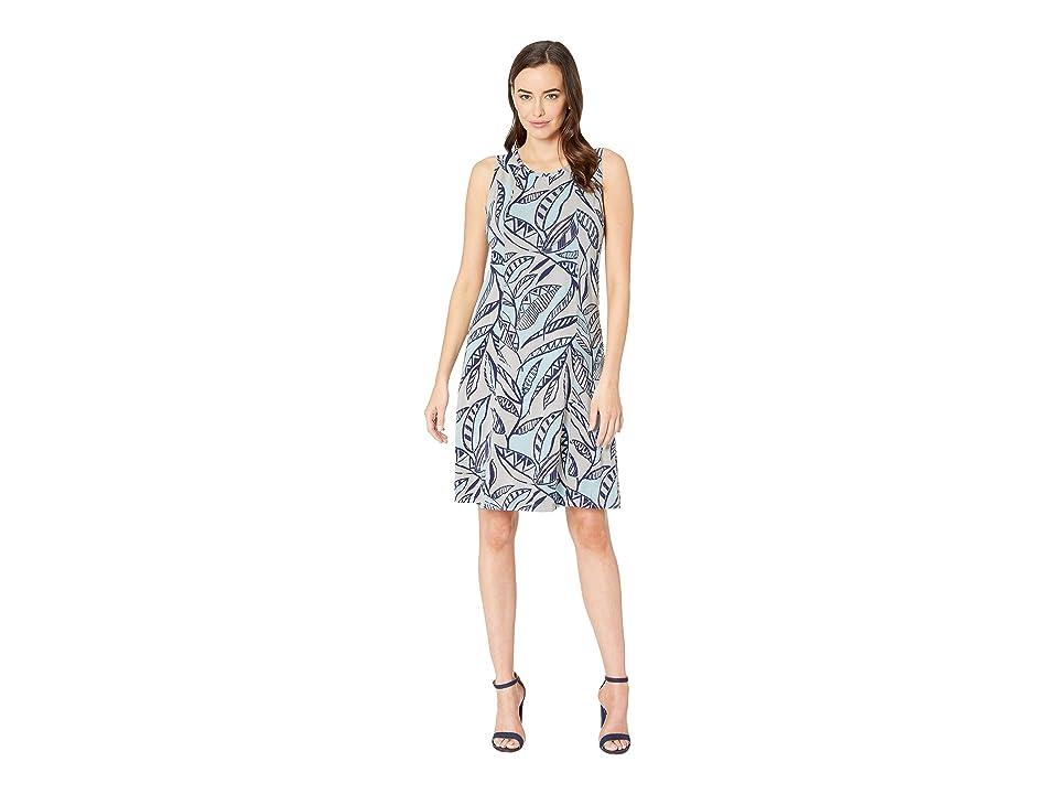 Fresh Produce Palm Leaves Chloe Dress (Slate Grey) Women