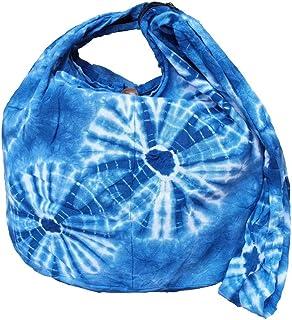 BTP! Tie Dye Sling Crossbody Shoulder Bag Purse Hippie Hobo Cotton Bohemian Colorful Firework