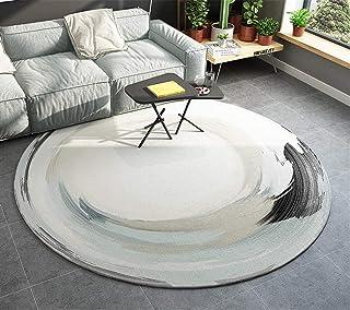 Ommda Nowoczesny abstrakcyjny geometryczny okrągły dywanik koło salon duże antypoślizgowe dywaniki do sypialni d100 cm