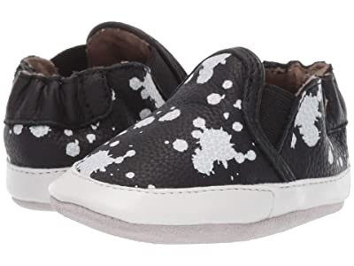 Robeez Liam Soft Sole (Infant/Toddler) (Black/White 1) Boys Shoes