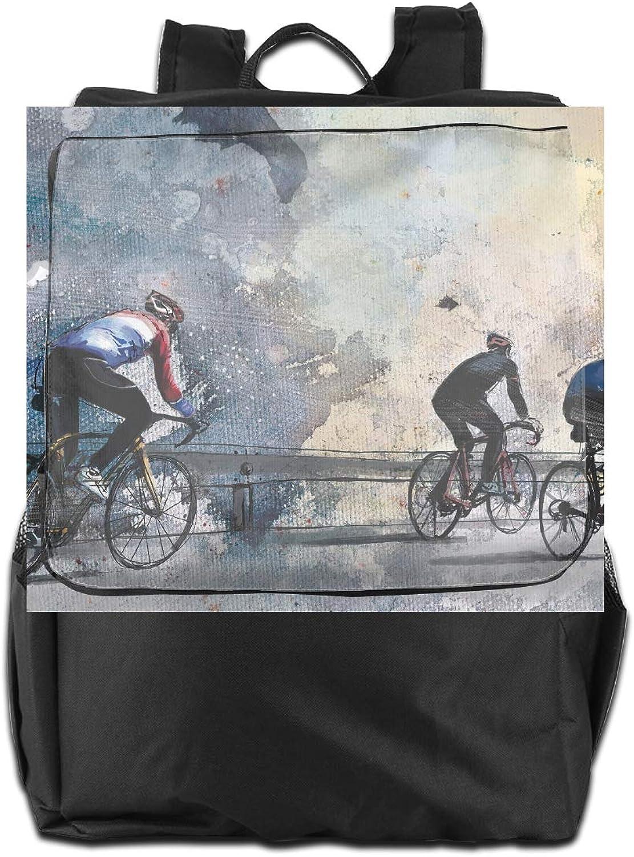 Bicycle Game Printed Girls Backpack Lightweight Casual Shoulder Bag School Daypacks
