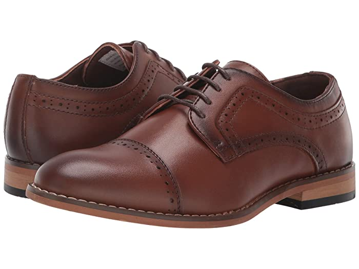 1920s Boardwalk Empire Shoes Stacy Adams Kids Dickinson Little KidBig Kid Cognac Boys Shoes $50.71 AT vintagedancer.com