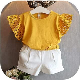 APROUDROSE - Camisetas de Verano para niña, de algodón, para niños, Informales, para 2 3, 4, 5, 6, 7 y 8 años