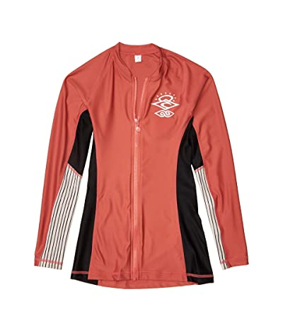 Rip Curl Moontide Zip Thru Long Sleeve (Rust) Women