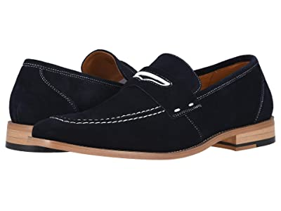 Stacy Adams Colfax Moc-Toe Slip-On Penny Loafer (Navy) Men