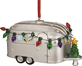 Cape Shore Light Up Resin Camper Ornament with Christmas Tree