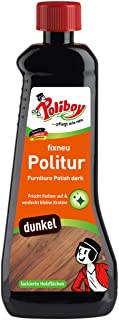 Poliboy Fixneu Möbelpolitur Dunkel - für dunkle Oberflächen - beseitigt Kratzer und frischt auf - 500ml - Made in Germany