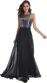 فستان سهرة رسمي طويل من الشيفون بالترتر للحفلات الراقصة من Beauty Kai