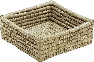 Ten Thousand Villages Natural Woven Kaisa Grass Basket 'Delta Palm Square Basket'