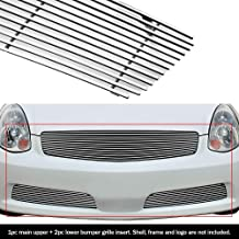 APS Compatible with 05-06 Infiniti G35 Sedan Billet Grille Grill Combo Insert N87878A