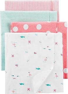 "Carter's Unisex Baby 4 Pack Receiving Blankets, 40""x30"", Flamingo Pink"