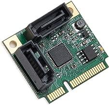 Mini PCIe to SATA III 2 Ports Raid Adapter Card ASMedia 1061R for Ipfs Mining and Adding SATA 3.0 Devices