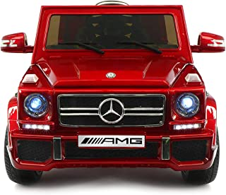 2019 Mercedes G Wagon Holiday Ride On Car - Large Capacity 12V Power Battery Licensed Kid Car to Drive | 3 Speeds, Leather Seat, LED Lights