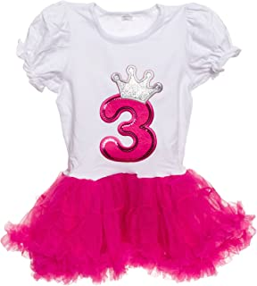 Baby Girls Birthday Outfit - Cute 2-Piece Tutu Dress for Toddlers