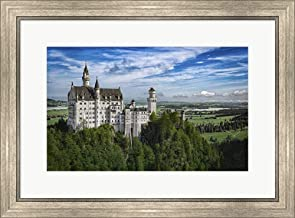 Castle in The Sky by Jonathan Ross Framed Art Print Wall Picture, Silver Scoop Frame, 26 x 19 inches