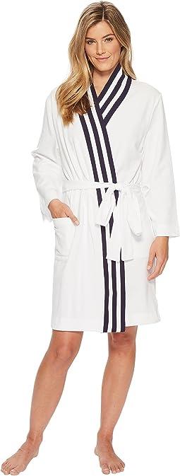 Nautica - Kimono Robe with Navy Rib Stripe