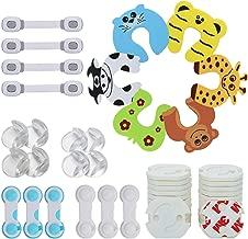 LENBEST 48 Pcs Kit de Seguridad para Bebés, Kit Seguridad Bebe(8 Protectores de Esquina de Silicona, 24×Protector de enchufe, 10 Bebé de Seguridad Bloqueo, 6×Tarjeta de la puerta de la espuma)