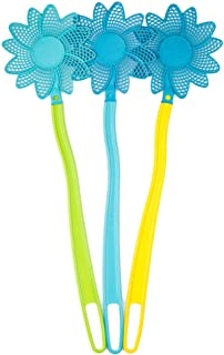 OFXDD Rubber Fly Swatter, Long Fly Swatter Pack, Fly Swatter Heavy Duty, Assorted Colors (3 Pack)