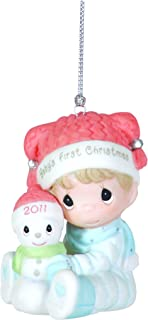 Precious Moments , 2011 Dated Ornament Baby's First Christmas Boy
