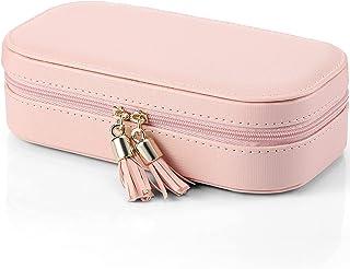 Vlando Small Tassels Travel Accessories Jewelry Box/ Bag, Gift Box Packing (Pink)