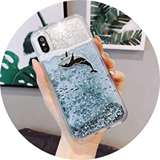 Phone Case for Samsung Galaxy S7 S8 S9 Plus Note 8 9 J3 J5 J7 2016 2017 A3 A5 A7 A6 A8 2018 Cover Cases,Whale Fish,A8 2018