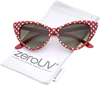 Women's Retro Oversized High Point Cat Eye Sunglasses 54mm
