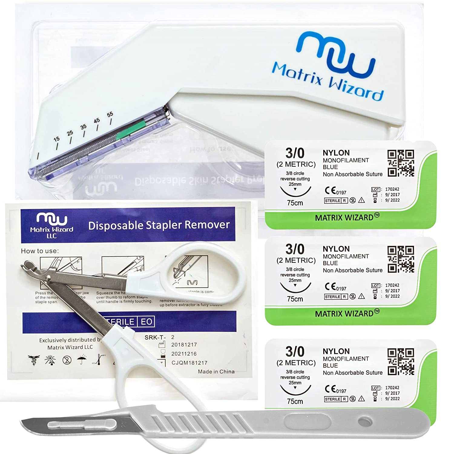 Max 63% OFF OFFicial site Sterile Sutures Thread with Needle Stapler and Disposable W Plus