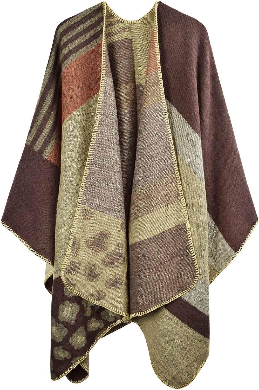 UTOVME Damen Maedchen Langer Schal 250cm*70cm Deckenstoffschaln Schalcape Winter Schal mit Fransen und spitzen Enden XXL