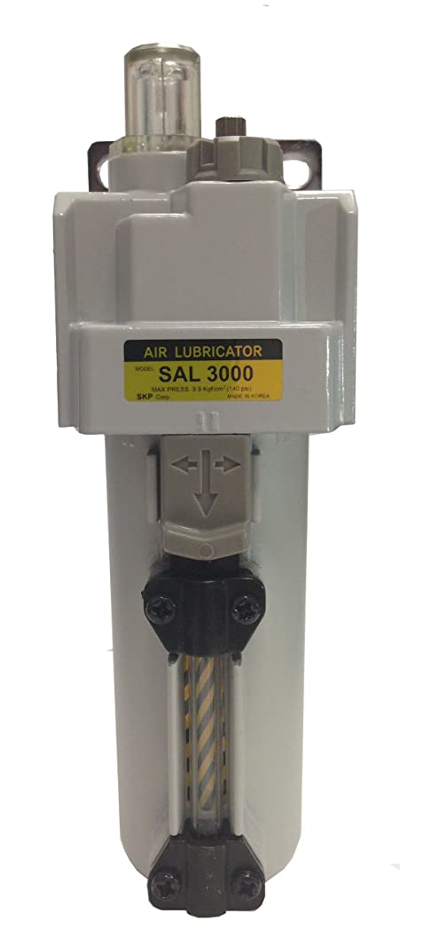 PneumaticPlus SAL3000M-N03B-MEP Compressed Air Lubricator, 3/8