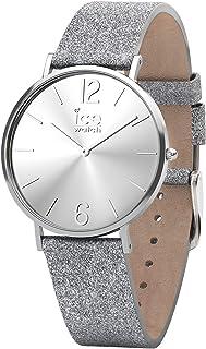 Ice-Watch 015080 Women's Quartz Watch, Analog Display and Leather Strap
