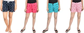 Unknown Women Regular Shorts (Pack of 4)