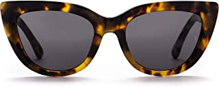 Sunday Somewhere Women's Laura Wrap Sunglasses, Marble, 54 mm