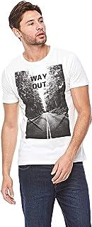 Ovs White Round Neck T-Shirt For Men, L