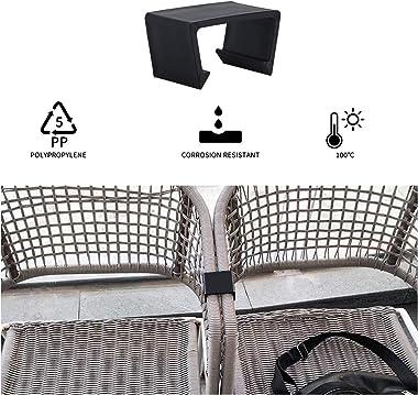 YARNOW 20 Pièces Canapé Connecter Pinces en Plastique Extérieur Chaise en Osier Alignement Attaches Clips pour Patio Canapé S