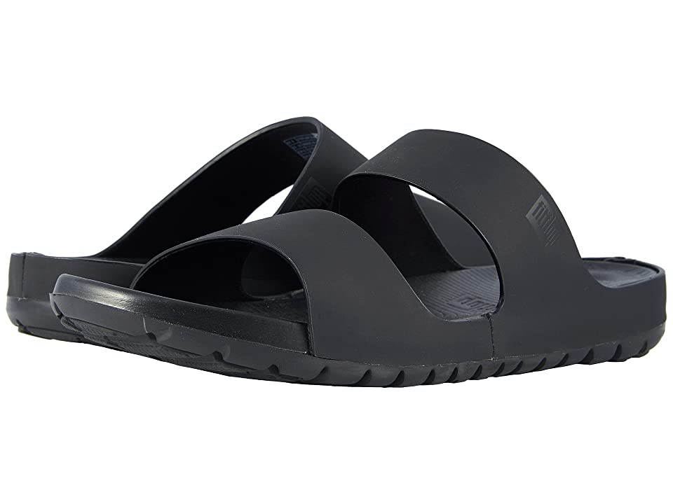 FitFlop Lido Double Slide Sandals (Black) Men