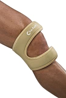 """Cho-Pat Dual Action Knee Strap, Provides Full Mobility & Pain Relief for Weakened Knees, Large Tan, 16""""-18"""""""