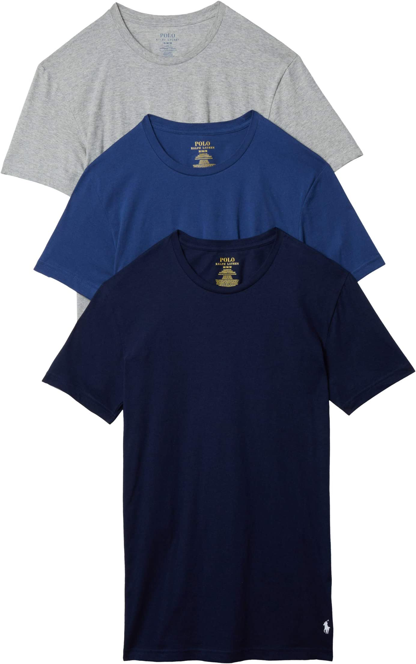 Polo Ralph Lauren Classic Fit w/ Wicking 3-Pack Crews