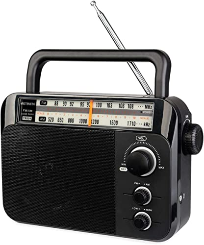 Retekess TR604 Radio Portable Radio AM/FM 2 Band Radio Support Dry Battery Power + AC Power Supply radios Portable wi...